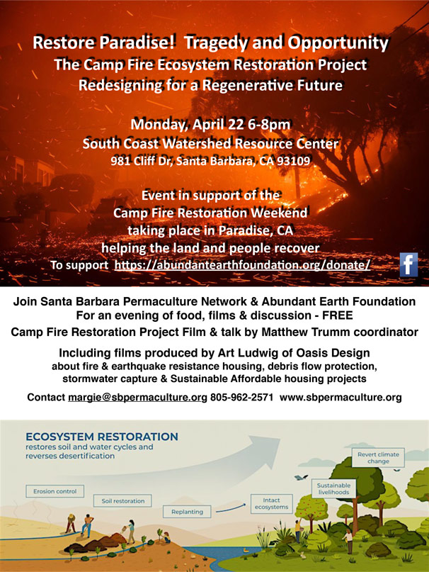 Restore Paradise! The Camp Fire Ecosystem Restoration Project: Redesigning for a Regenerative Future